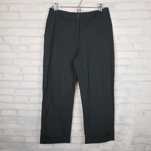 Piazza Sempione cropped cuffed pants 42 black   F2